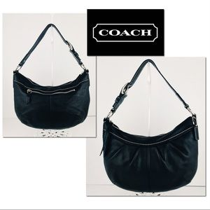 🎁🎄Coach Leather Soho Pleated Shoulder Hobo Bag